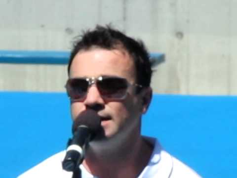 Shannon Noll Singing LIFT at Lleyton Hewitt's Charity Day. 27.11.11