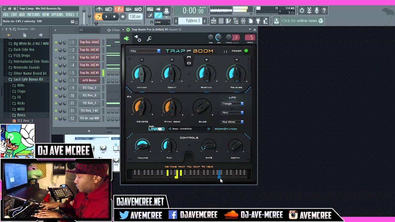 Review studiolinked trap boom 2 vst synth youtube for Dikte trapboom