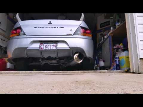 Evo 8 Megan Exhaust Vs Straight Pipe Youtube