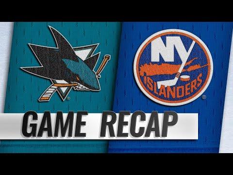 Lehner, Islanders shut out Sharks, 4-0
