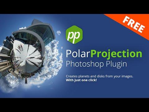Free Polar Projection Generator - Photoshop Plugin
