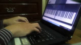 Repeat youtube video River flows in you - Virtual piano COVER