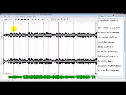 การแกะคอร์ดเพลงด้วยโปรแกรม Sonic Visualiser