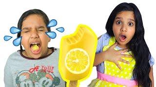शफ़ा और सोसो ने आइसक्रीम बेचने का नाटक किया।