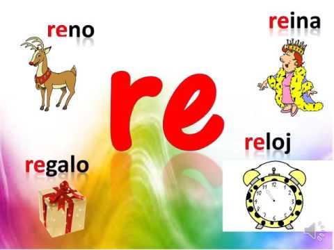 monosílabo de la letra R  para niños