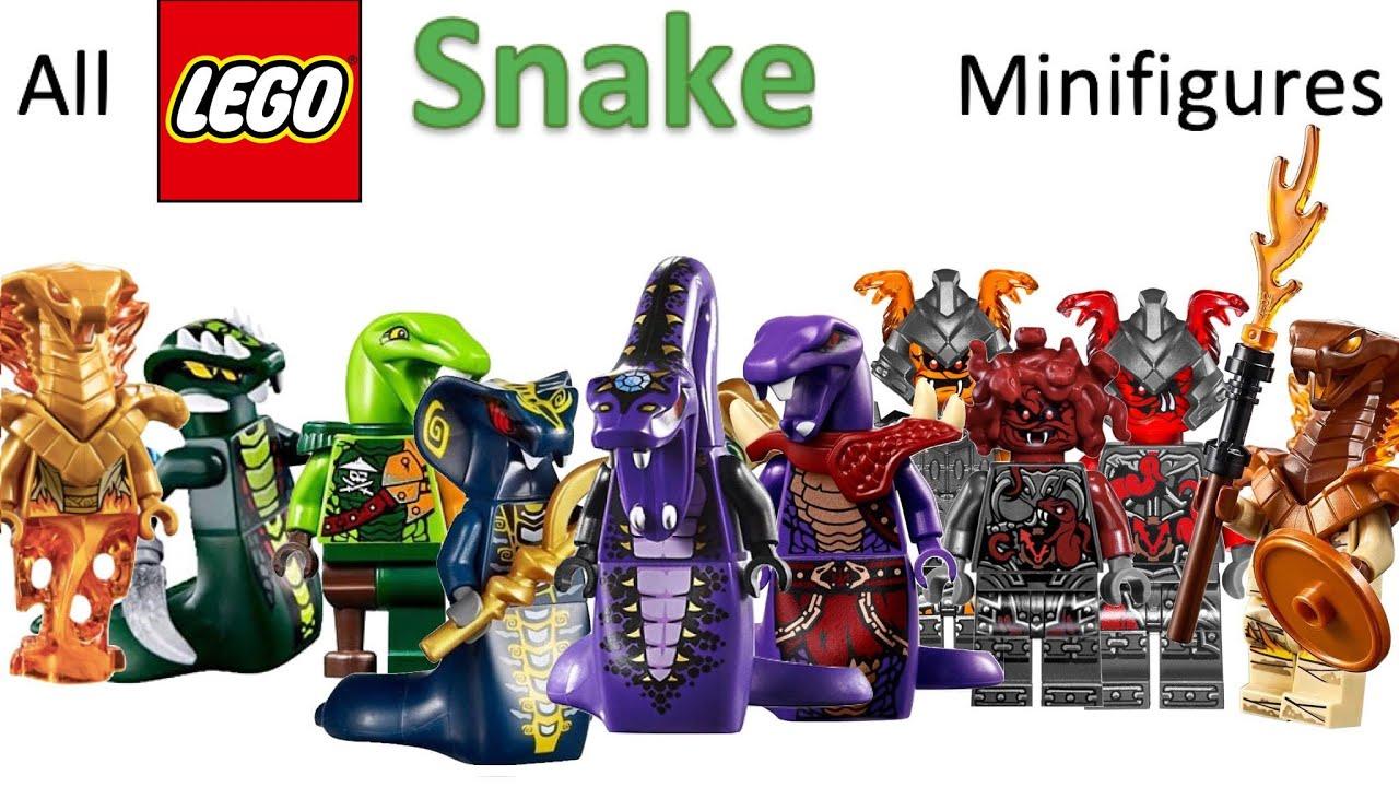 All LEGO ninjago snake minifigures ever made (2011-2020) - YouTube