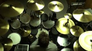 "Drumming along to ""Distant Early Warning"" by Rush (top view)`"