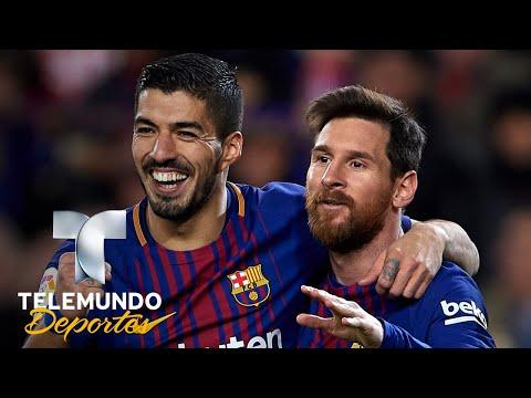 Suárez revela cómo convenció a Messi de quedarse en el Barça en el 2016 | La Liga | Telemundo