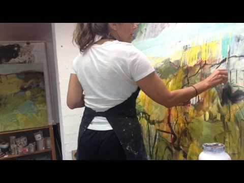 Dana Dion Artist - Painting In Progress. Timelapse painting - Sydney Australia