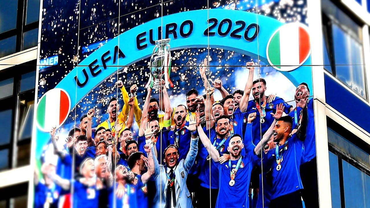 La sede della FIGC cambia look | Campioni d'Europa 2020