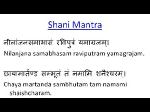 Nilajana Samabhasam English Meaning - Shani Mantra In English