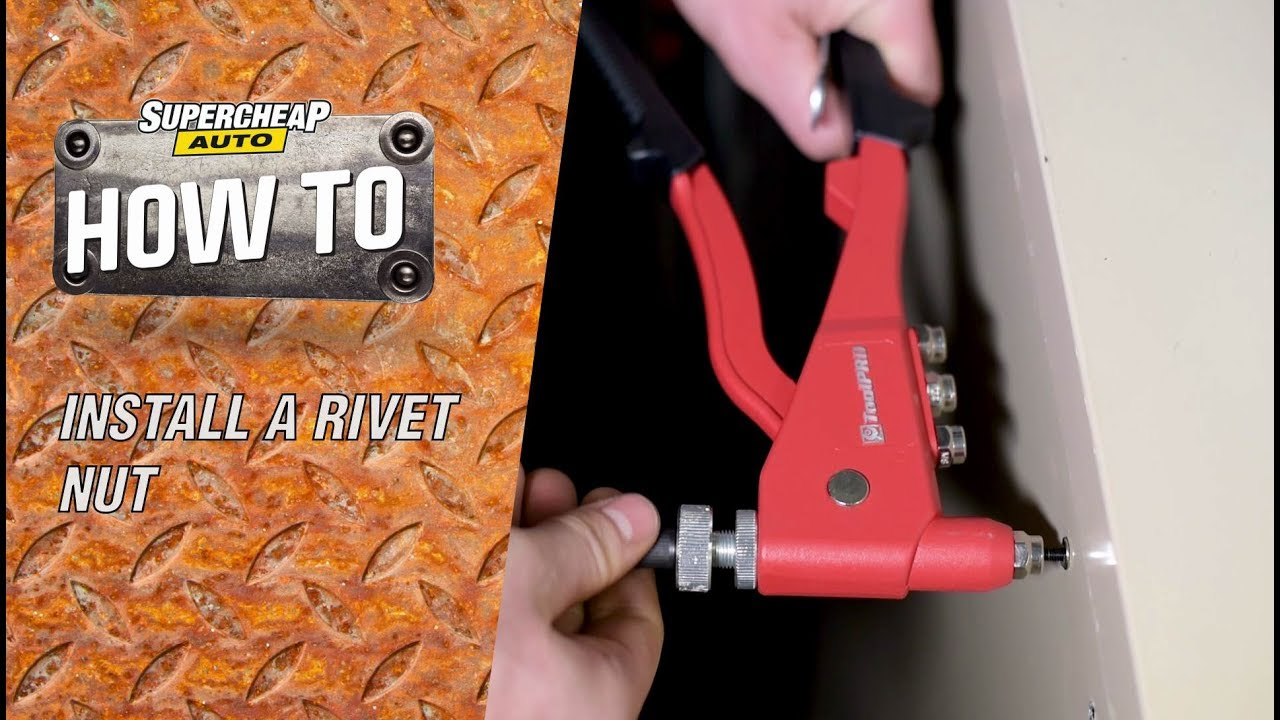 How to - Install A Rivet Nut - Nut Cert // ToolPRO Rivet Nut Tool