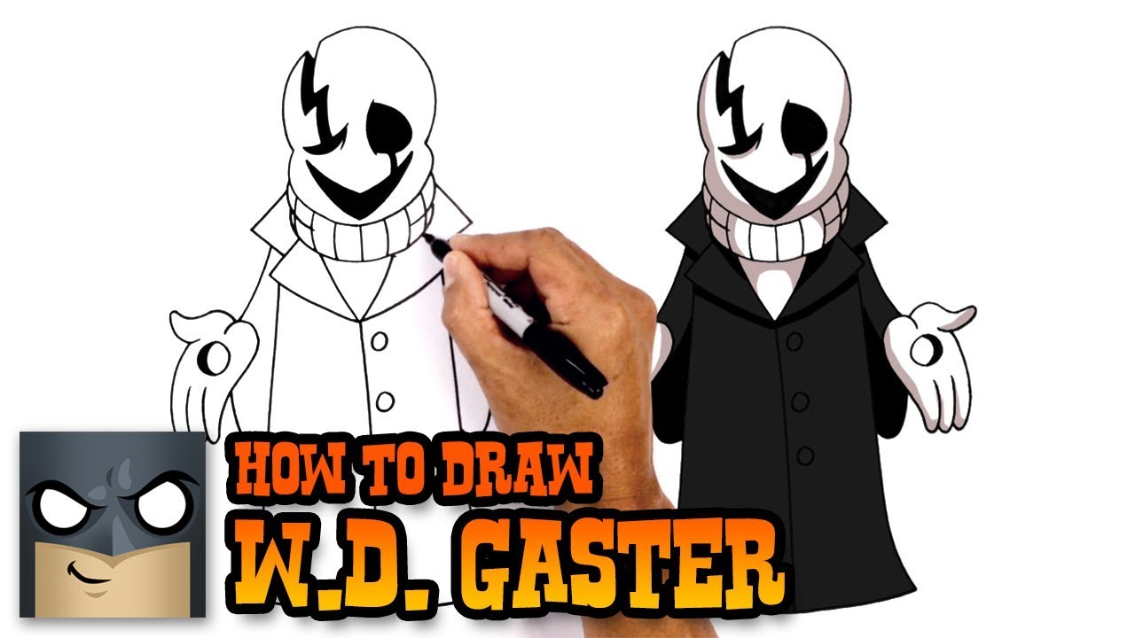 How To Draw Wd Gaster Undertale Youtube