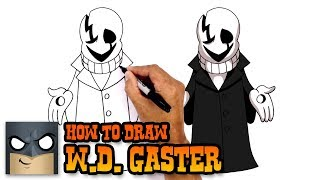 How to Draw WD Gaster | Undertale