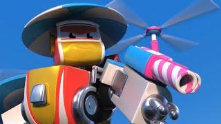 ЗЛОЙ АВТО РОБОТ пугает Машины!   РобоСлияние - Супергерой спасает всех   Видео про машинки для детей