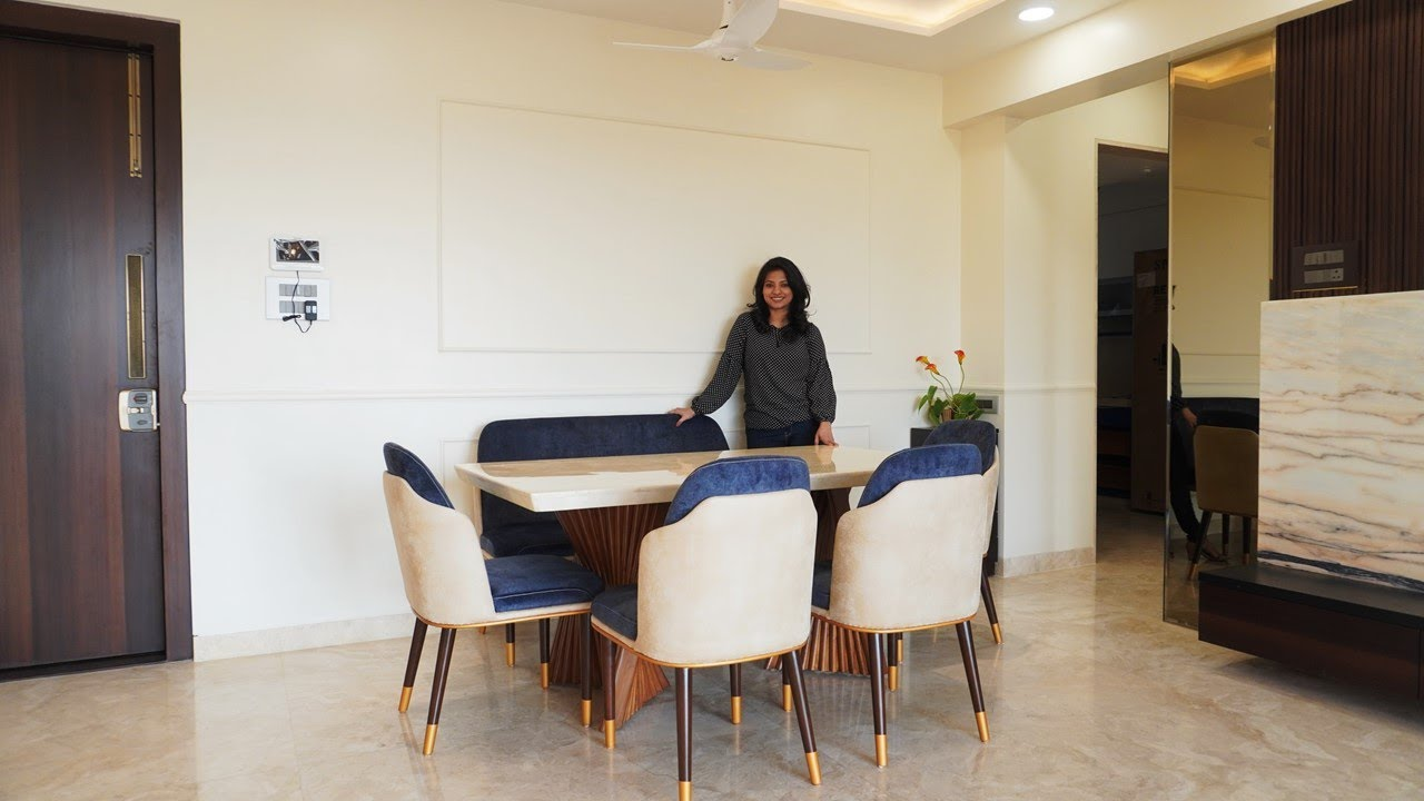 Dining Table Design | 4bhk @ Nerul | Interior Iosis by Nihara