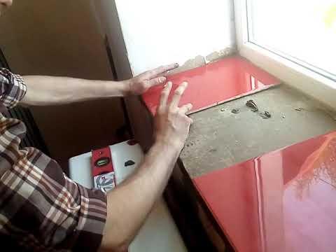 Облицовка подоконника плиткой наглядное пособие для новичков за 150 гривен