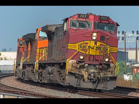 4K - Extreme BNSF Freight & Passenger Train Action along the San Bernardino Sub in November 2017