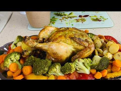 recette-poulet-au-four,-legumes-facile-et-rapide