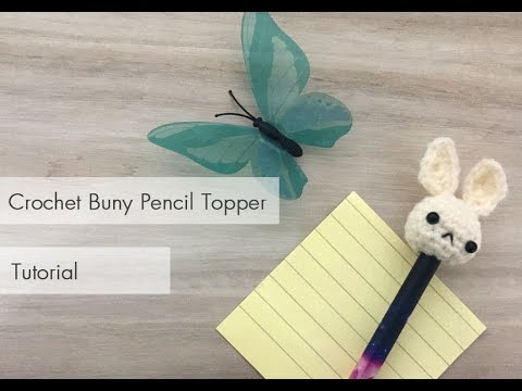Amigurumi Bunny Pencil Holder : Crochet bunny topper tutorial youtube