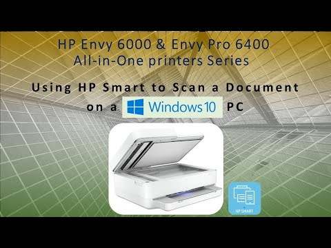 HP Envy 6055 | HP Envy Pro 6455 : Scan a document using HP Smart on Windows 10 Computer
