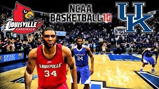 NCAA Basketball 10 - (XB360) -1080p 60fps | 2014 Gameplay! | Louisville at Kentucky