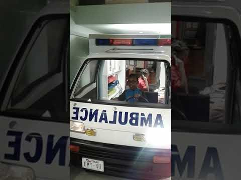 Houston Children Museum Ambulance with Andrew and Latina