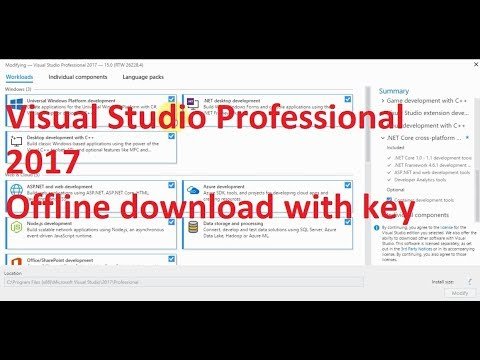 Download Visual Studio Professional 2017 full Offline rar with key