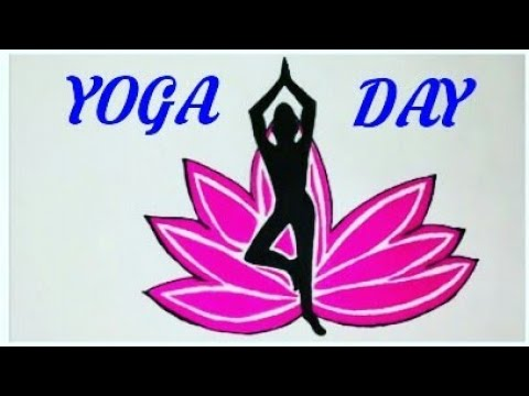 How To Draw Yoga Day Coloring Poster Step By Step Easy World Yoga Day International Yoga Day Youtube