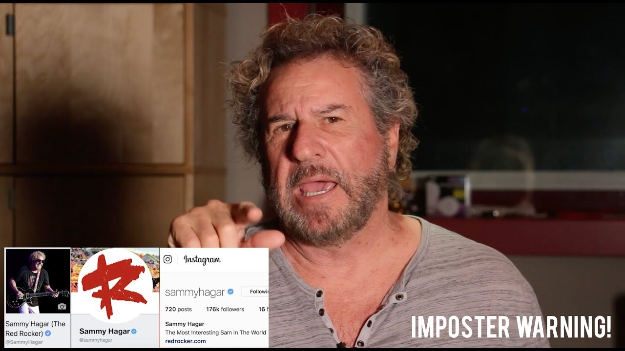 A Message From Sammy Hagar About Imposters Youtube
