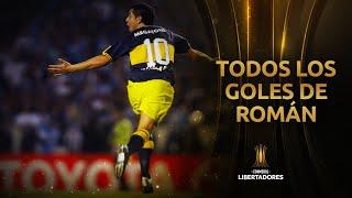 Todos los GOLES de RIQUELME en la CONMEBOL Libertadores