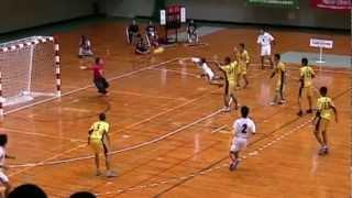 2011 第40回全国中学校ハンドボール大会 決勝戦 スーパープレー