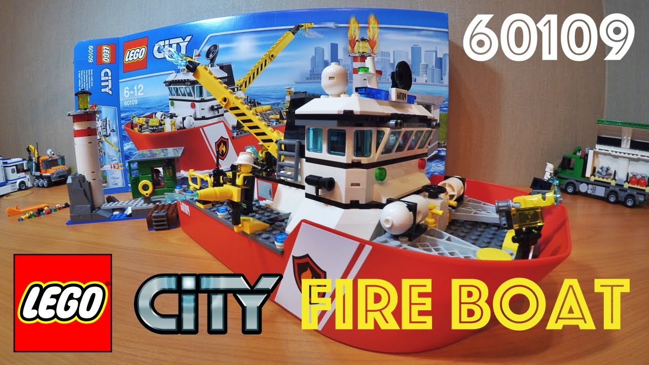 Lego City Fire Boat Speed Build