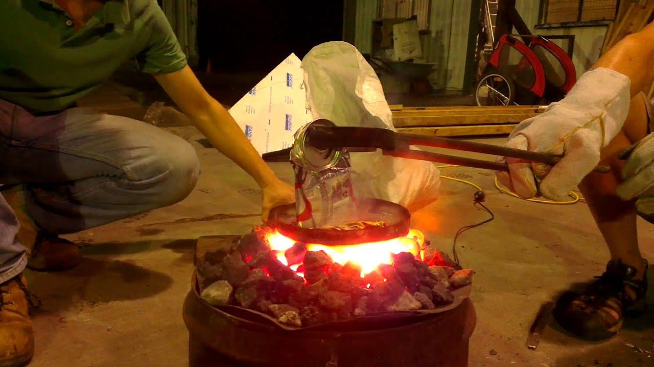 Aluminum smelting Part 1 - Aluminum Smelting Part 1 - YouTube