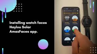 Installing watch faces on Haylou Solar watches in AmazFaces app screenshot 4