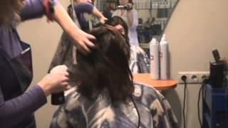 Короткая стрижка из длинных волос