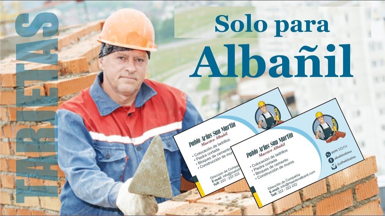 Tarjetas de presentaci n para alba il dise os impactantes youtube - Trabajo albanil sevilla ...