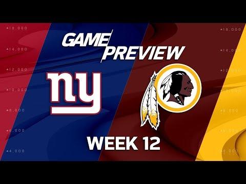 New York Giants vs. Washington Redskins | NFL Week 12 Game Preview | NFL Playbook