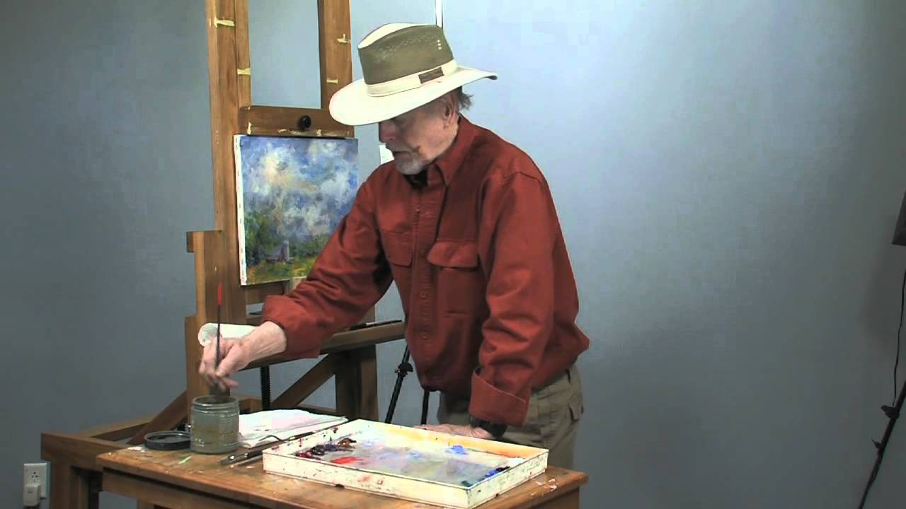 How to sign an oil painting youtube for How to do painting on canvas