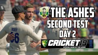 THE ASHES - Second Test - Day 2 (Cricket 19)