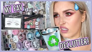 🔪 ORGANIZE AND DECLUTTER MY MAKEUP COLLECTION! 😏 GLITTER & COLOURPOP STUFF