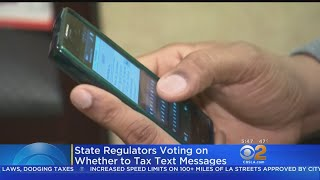 California Considers Texting Tax