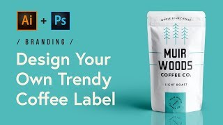 Tutorial: Design a Trendy Coffee Label in Adobe Illustrator and Photoshop