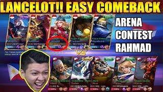 LANCELOT ARENA CONTEST ? EASY COMEBACK !!! - Mobile Legend Bang Bang