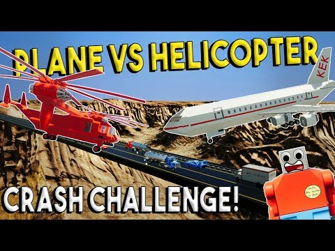 LEGO PLANE VS HELICOPTER! - Brick Rigs Challenge & Creations - Crash Challenge