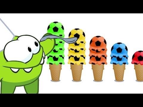 Learn English With Om Nom - Om Nom Counts Colorful Ice Cream Scoops
