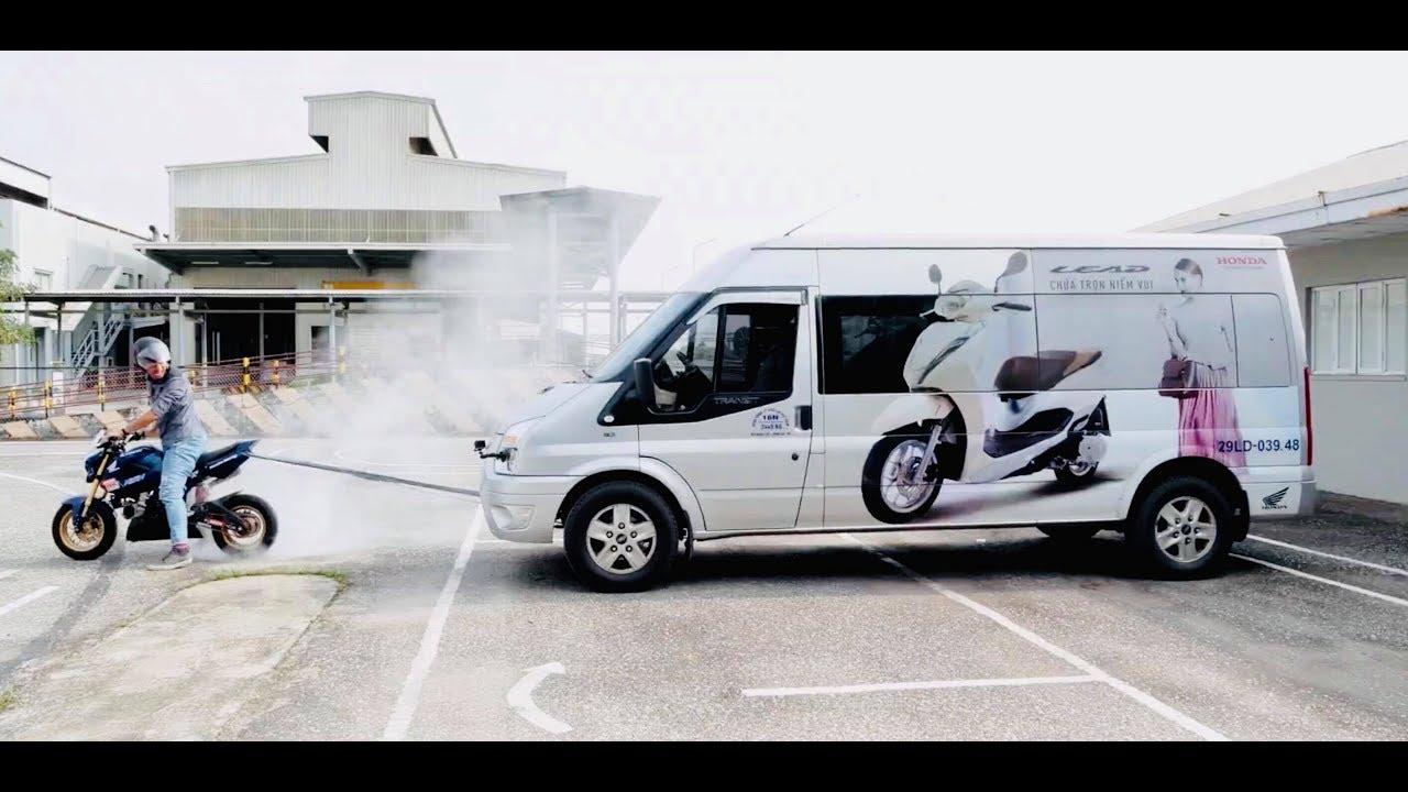 Honda MSX kéo ô tô và cái kết bốc khói |XEHAY.VN|