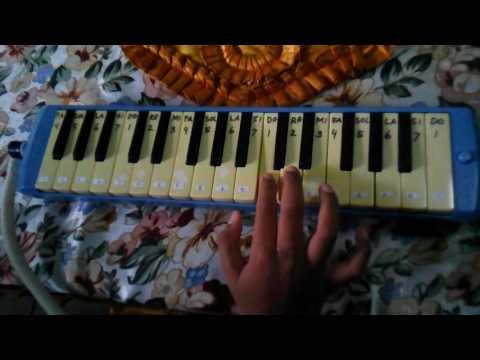 Bermain Pianika [not angka pianika] - Bagimu Negeri