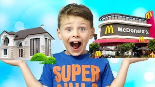 ALİ EVİNİ MCDONALD'Sa DÖNÜŞTÜRDÜ! Baby Transformed House Into McDonald's, Funny Video for children