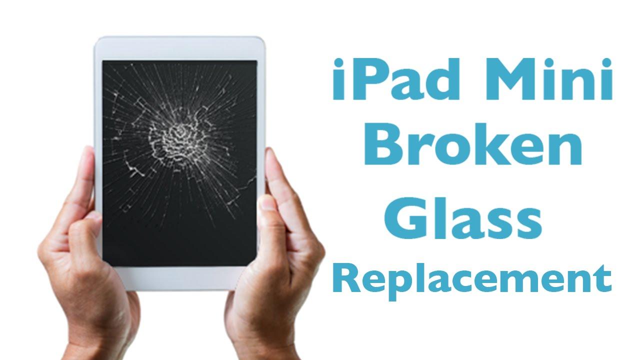 ipad mini 1 2 3 glass replacement broken screen repair youtube